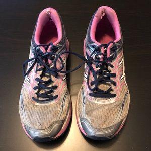 Gray, Pink, & Navy 7757N ASICS, Size 11